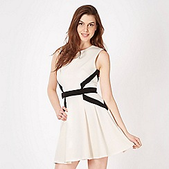 Lipsy - Cream panel skater dress