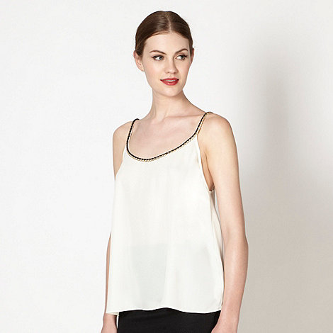 Lipsy - Kardashian Kollection cream chain camisole