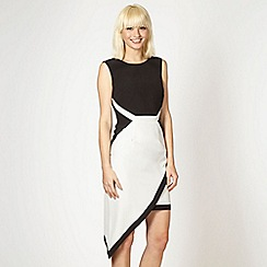 Lipsy - Kardashian Kollection black asymmetric hem dress