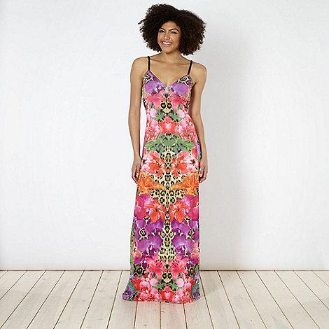 Lipsy - Pink hibiscus animal print maxi dress