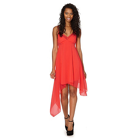 Lipsy - Kardashian Kollection neon orange floaty cami dress