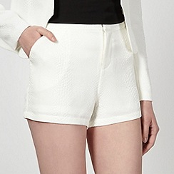 Lipsy - Kardashian Kollection White animal tuxedo shorts