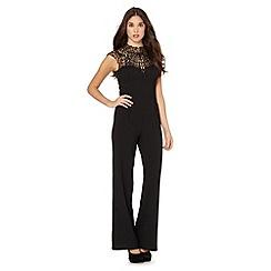Lipsy - Black crepe lace jumpsuit