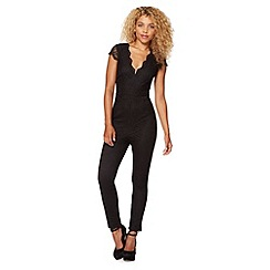 Lipsy - Black lace jumpsuit