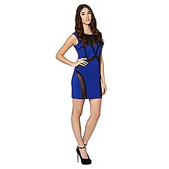 Lipsy - Bright blue ruffle mesh dress