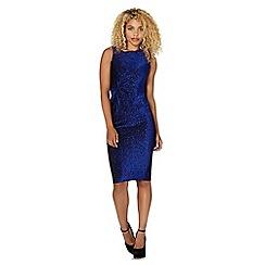 Lipsy - Michelle Keegan Loves Lipsy blue glitter knot waist dress