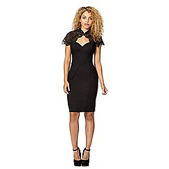 Lipsy - Black lace bodycon dress