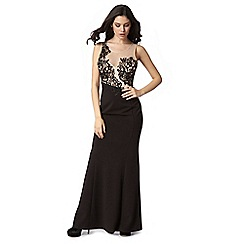 Lipsy - Michelle Keegan loves lipsy black applique flower dress