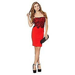 Lipsy - Red lace cami layer dress