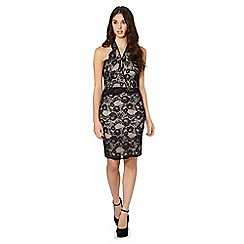 Lipsy - Black lace halter dress