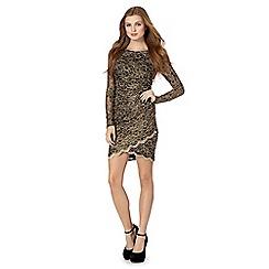Lipsy - Black lace wrap dress