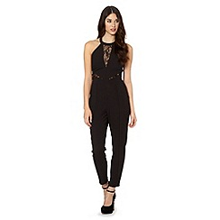 Lipsy - Michelle Keegan loves lipsy black lace insert jumpsuit