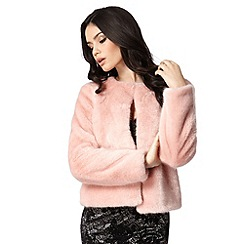 Lipsy - Michelle Keegan loves Lipsy pink collarless fur jacket