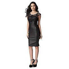 Lipsy - Michelle Keegan loves lipsy black lace insert bodycon dress