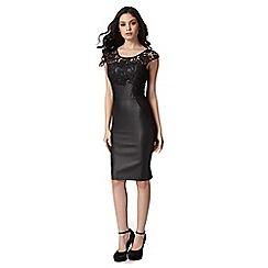 Lipsy - Michelle Keegan loves lipsy black lace insert bodycon dress
