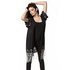 Lipsy - Michelle Keegan loves lipsy black beaded kimono