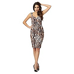 Lipsy - Kardashian Kollection natural leopard print shift dress