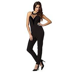 Lipsy - Kardashian Kollection black lace insert jumpsuit
