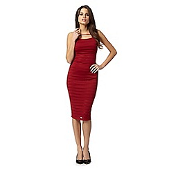Lipsy - Kardashian Kollection red ribbed cami bodycon dress