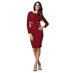 Lipsy - Kardashian Kollection red cutout bodycon dress