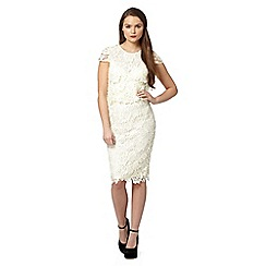 Lipsy - Cream lace shift dress