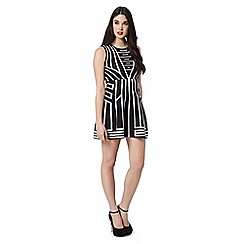 Lipsy - Black stripe knitted dress
