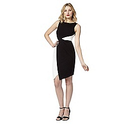 Lipsy - Black monochrome panel shift dress
