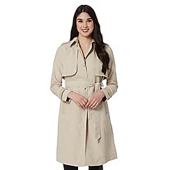 Lipsy - Taupe lightweight belted mac coat