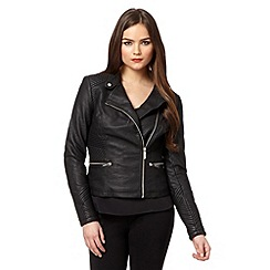Lipsy - Black stitch panel biker jacket