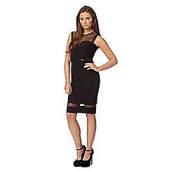 Lipsy - Michelle Keegan loves Lipsy black mesh insert dress
