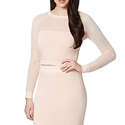 Lipsy - Pink thick and thin jumper