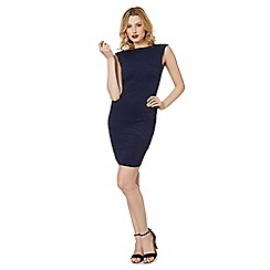 Lipsy - Navy textured animal tube dress