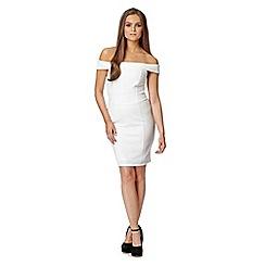 Lipsy - Michelle Keegan loves this white textured mini dress