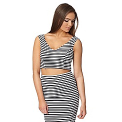 Lipsy - Michelle Keegan loves Lipsy black striped crop top