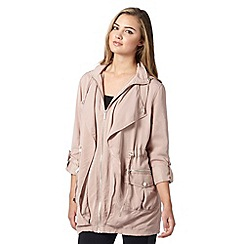 Lipsy - Michelle Keegan loves Lipsy pale pink roll up parker jacket