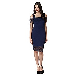 Lipsy - Navy lace overlay dress