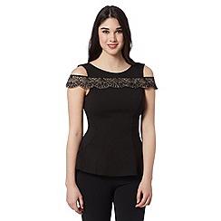Lipsy - Black lace bardot vest