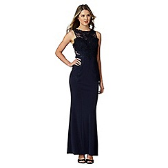 Lipsy - Navy lace bodice maxi dress