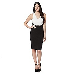 Lipsy - Black 2-in-1 shift dress