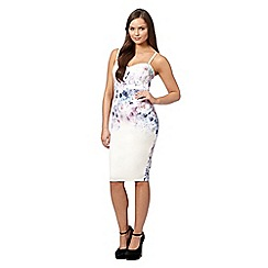Lipsy - Ivory floral laser cut bodice camisole dress