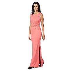 Lipsy - Pink cut out scuba maxi dress