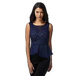 Lipsy - Michelle Keegan loves Lipsy navy cutout peplum top