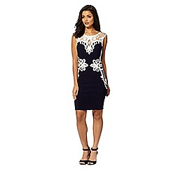 Lipsy - Michelle Keegan loves Lipsy navy lace applique shift dress