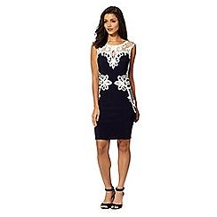 Lipsy - Michelle Keegan loves Lipsy navy lace applique shift dress