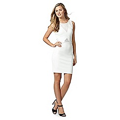 Lipsy - Michelle Keegan loves Lipsy white diamond textured bodycon dress