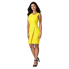 Lipsy - Bright yellow wrap shift dress