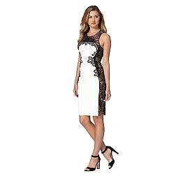 White monochrome lace bodycon dress