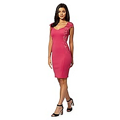 Lipsy - Pink lace applique dress