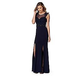 Lipsy - Navy rose mesh maxi dress