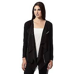 Lipsy - Black asymmetric zip cardigan